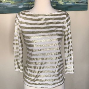 J.CREW Gold Striped top
